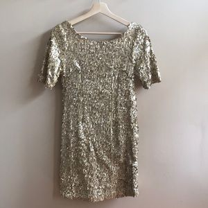 Aryn K. Gold Sequin Dress - M